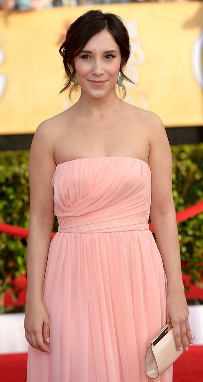 . Sibel Kekilli arrives at the 20th Annual Screen Actors Guild Awards  at the Shrine Auditorium in Los Angeles, California on Saturday January 18, 2014 (Photo by Michael Owen Baker / Los Angeles Daily News)