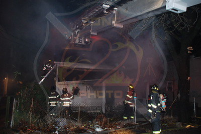 Hempstead F.D. Working Fire Next to 67 Evans Ave. 12/14/09