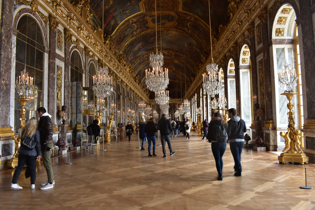 Hall of Mirrors at Château de Versailles, France