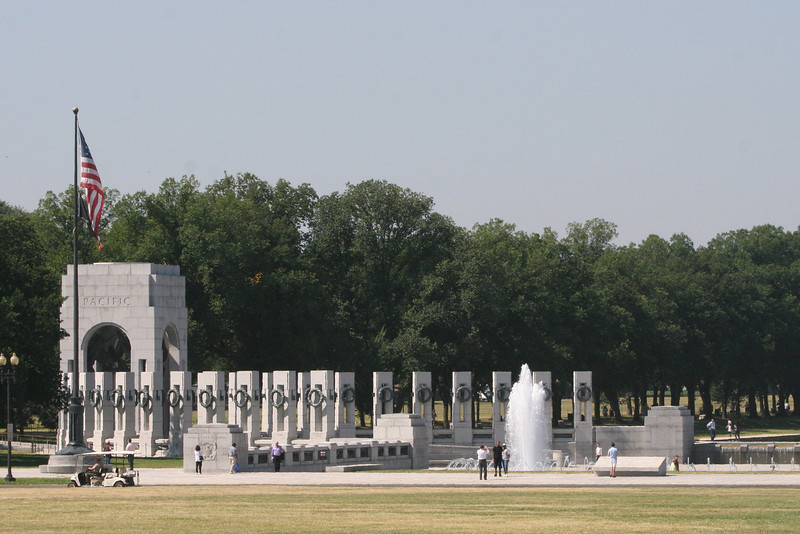 The Pacific View of the WWII Memorial