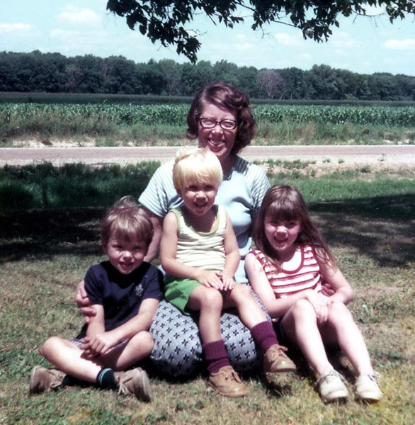 Joyce (Herdrich) Phillips with grandchildren, Dannie Doxtator, Michael Phillips and Jodi Doxtator