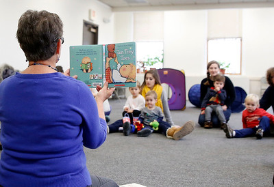 Warming up at the Bennington Free Library. 011017