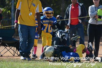 10-11-2015 Montgomery Village Sports Association Chiefs Tiny Mites vs Woodridge Warriors, Photos by Jeffrey Vogt Photography