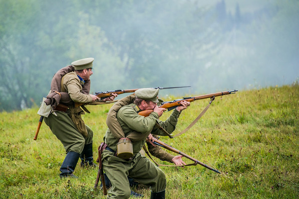 WWI Battles Reenactment in Khokhlovka, Russia