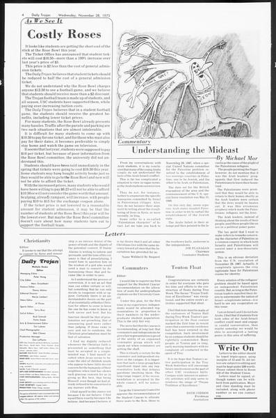 Daily Trojan, Vol. 66, No. 46, November 28, 1973