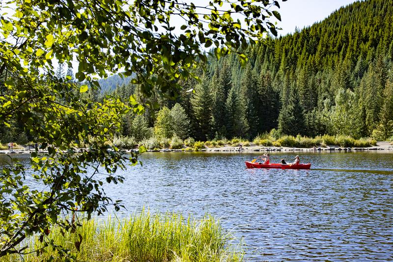 Kayak on a mountain lake