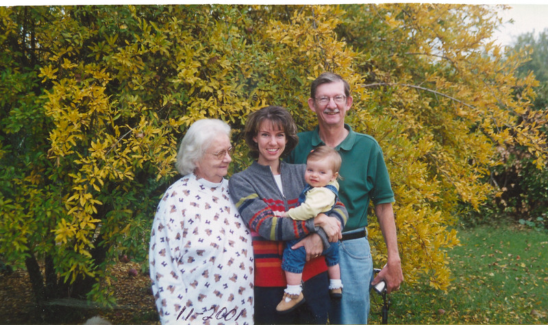Four generations: Frankie, Annmarie, Cortnie, Phil