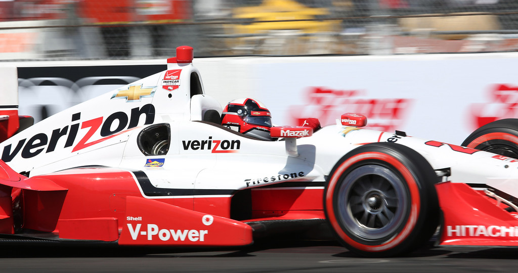 . Juan Pablo Montoya at the 41st Toyota Grand Prix of Long Beach, Sunday April 19th, 2015.  Chuck Bennett/Staff Photographer.