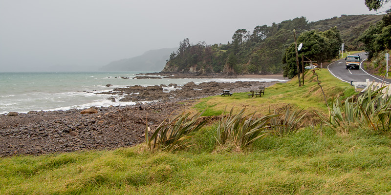 Rain north of Amodeo Bay 5840