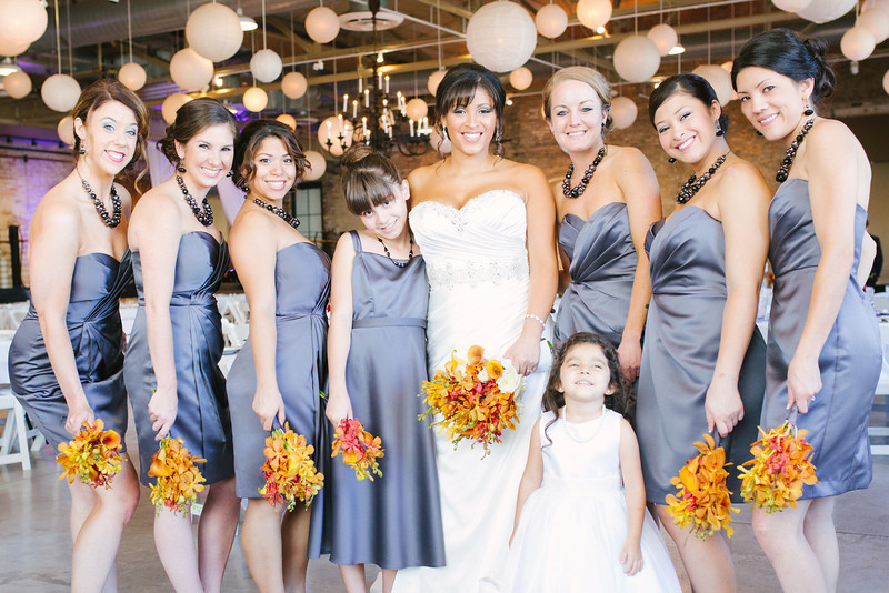 Preparations and pre-ceremony photography at Thexperience Salon and Prairie Stree Brewhouse for an autumn wedding. Wedding photographer – Ryan Davis Photography – Rockford, Illinois.