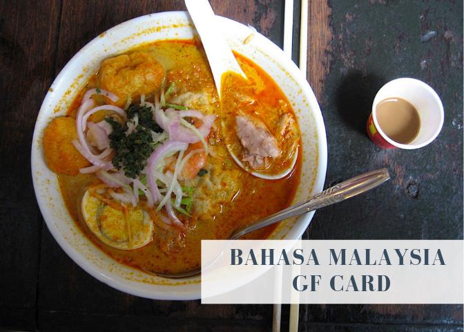Gluten free malaysia translation card