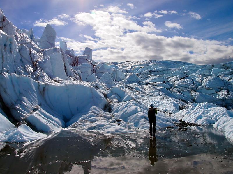 Hiking on the Matanuska Glacier in Alaska
