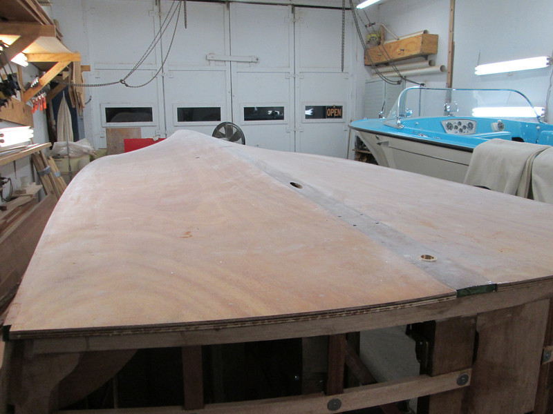 Rear starboard view of epoxy sanded.