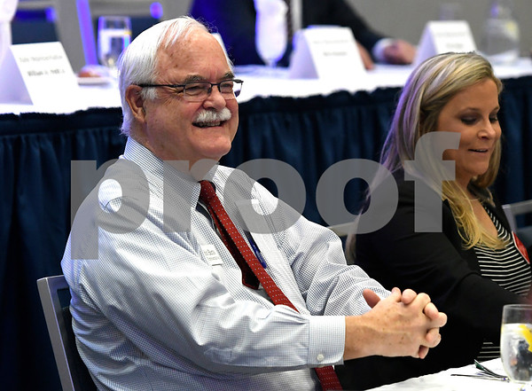 2/21/2018 Mike Orazzi | Staff State Rep. Whit Betts during the Central Connecticut Chambers of Commerce 2018 Legislative Breakfast held at the DoubleTree by Hilton Hotel Bristol in Bristol Wednesday morning.