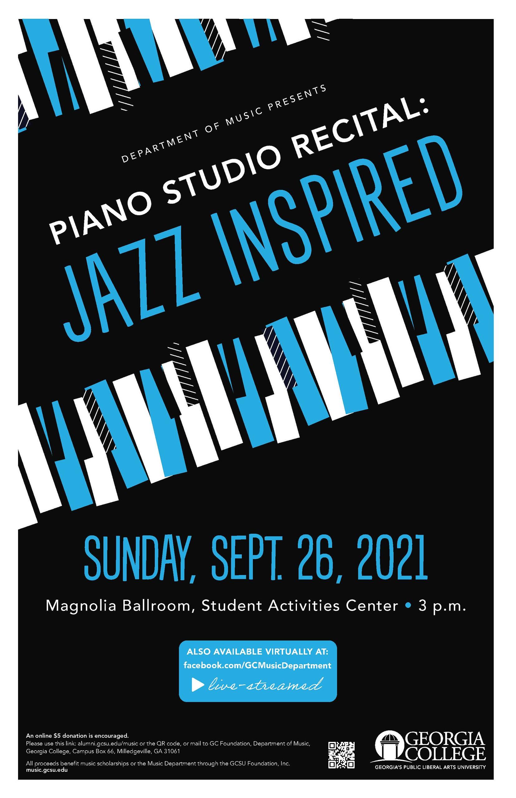 Please join us Sunday, Sept. 26, 3 pm, at Magnolia Ballroom or virtually.