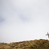 Wellington tramping clubs' war memorial cross on the summit of Mount Hector (1529m)