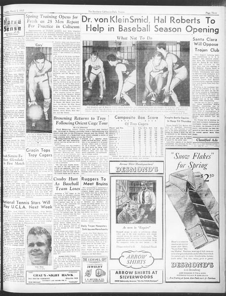 Daily Trojan, Vol. 28, No. 89, March 02, 1937