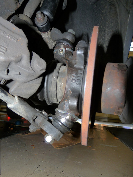 New upper and lower ball joints, tie rod ends, boots, shocks and brake pads.