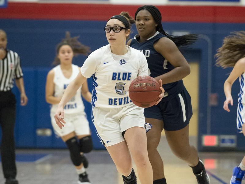 12/27/19  Wesley Bunnell   Staff  Plainville girls basketball vs Amistad Academy on Friday night at Plainville High School.  Jaida Vasquez (5).