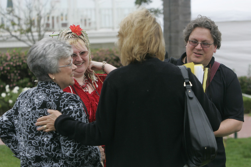 (L-R) Lynne Anderson, Mary Branscombe, Sharon Anderson-Morris, and Simon Bisson