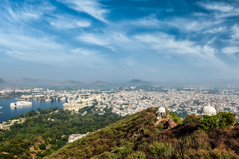 Aerial view of  Udaipur, India