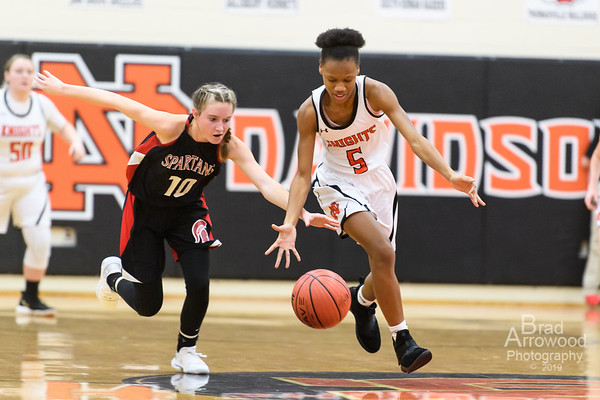 NDHS Lady Knights Basketball vs Central 2019