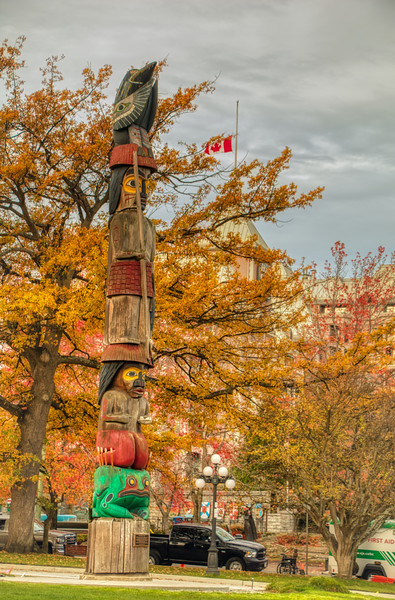 Totem Pole at BC Legislature