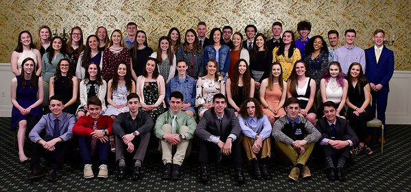 3/28/2019 Mike Orazzi | Staff Bristol Eastern High School students honored as scholar athletes by the Bristol Sports Hall of Fame at Nuchie's on Thursday night.
