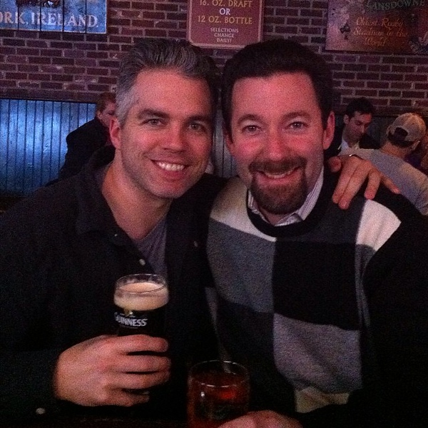 One of the best parts of being in NYC is being able to grab a beer with @clayhebert