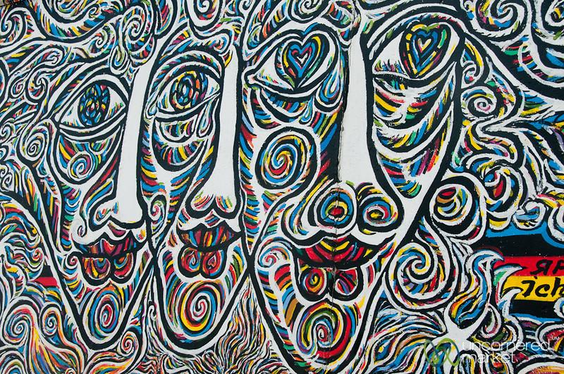 Berlin Wall, East Side Gallery - Friedrichshain, Berlin
