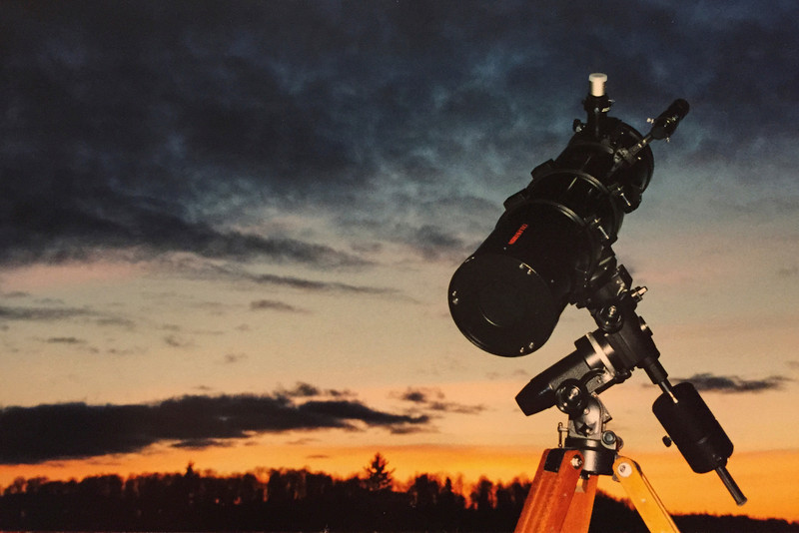 Denton's Telescope on Frozen Sand Lake, MN  Winter 1999/2000/2001 (?)
