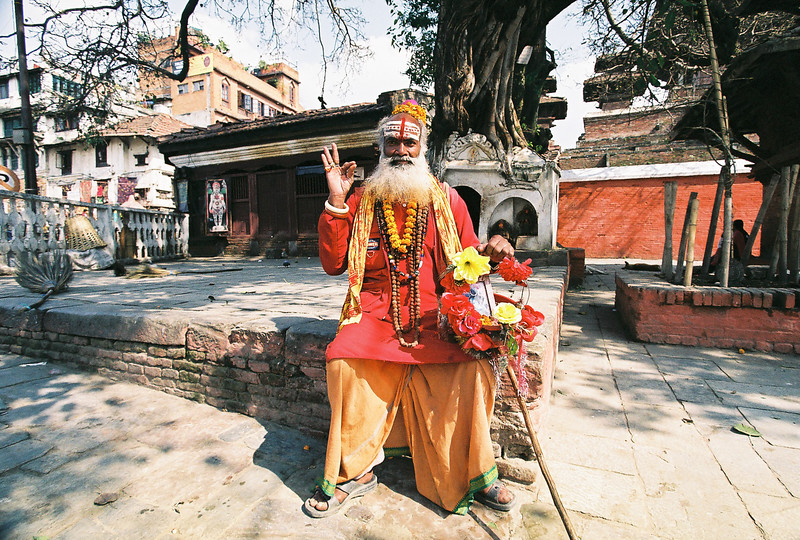 Old Hindu man in Durbar Square, Kathmandu