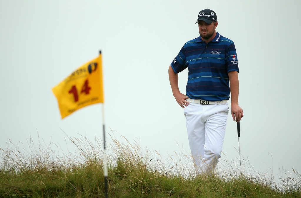 . Marc Leishman of Australia waits to putt on the 14th green during the final round of The 143rd Open Championship at Royal Liverpool on July 20, 2014 in Hoylake, England.  (Photo by Andrew Redington/Getty Images)