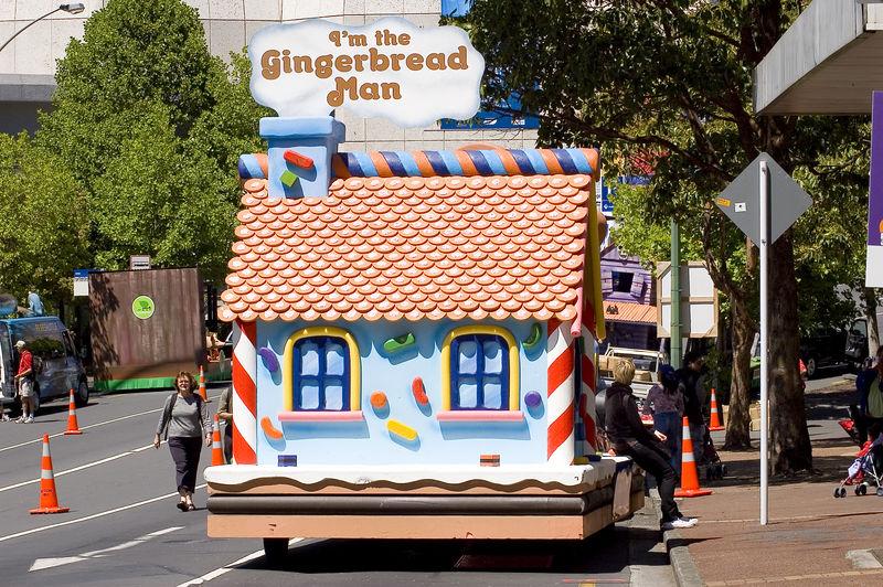 The ginger bread man Santa Parade Auckland  New Zealand - 27 Nov 2005