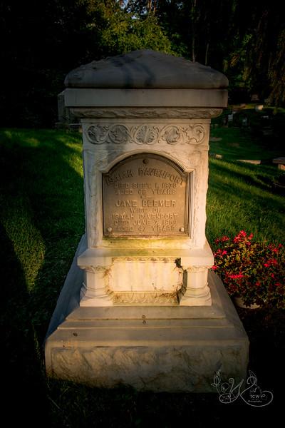 Davenport White Bronze monument