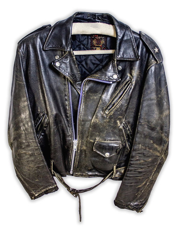 . John Mellencamp wore this jacket -- on display as part of �Mellencamp� at the Rock & Roll Hall of Fame and Museum -- throughout the 1980s. The exhibit is on display through September. For more information, visit rockhall.com.  (Courtesy of the Rock & Roll Hall of Fame)