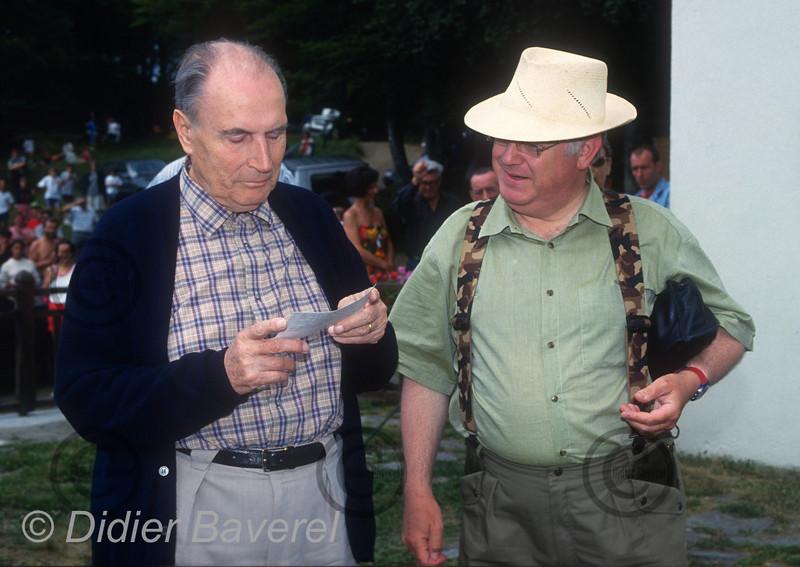 Francois Mitterrand, Michel Charasse au Lac Chauvet