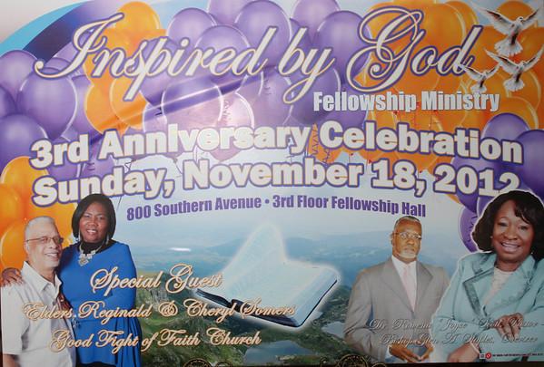 Pastor Scott 3rd Anniversary