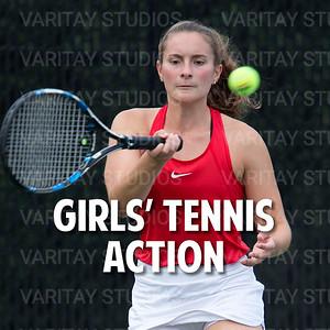 Prairie Girls Tennis Action
