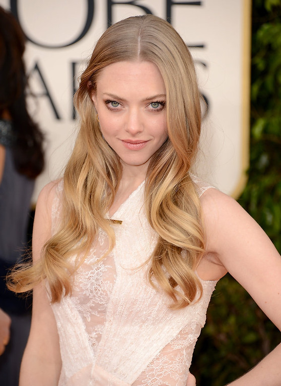 . Actress Amanda Seyfried arrives at the 70th Annual Golden Globe Awards held at The Beverly Hilton Hotel on January 13, 2013 in Beverly Hills, California.  (Photo by Jason Merritt/Getty Images)