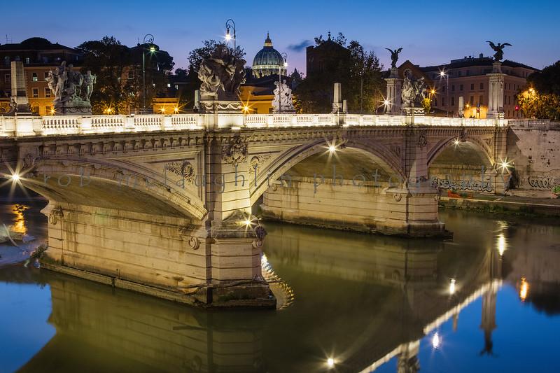 Ponte Vittorio Emanuele II, Tiber River, Rome