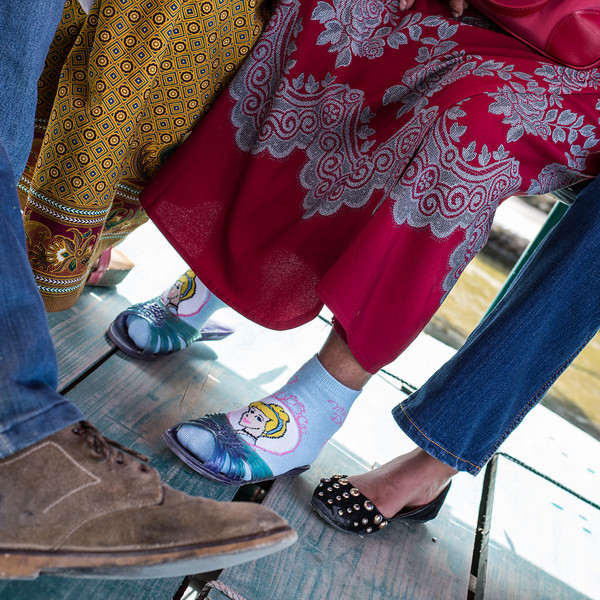 Socks and sandals in Pokhara