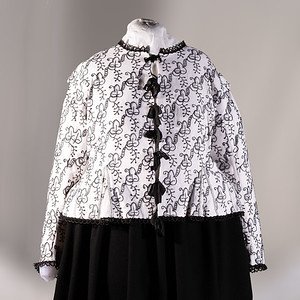 Blackwork jacket and coif