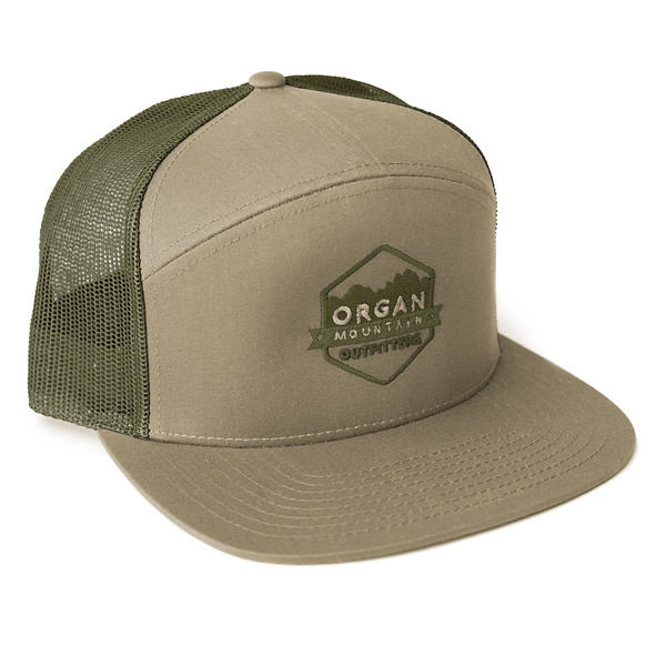 Organ Mountain Outfitters - Outdoor Apparel - Hat - 7 Panel Trucker Cap - Khaki Olive.jpg