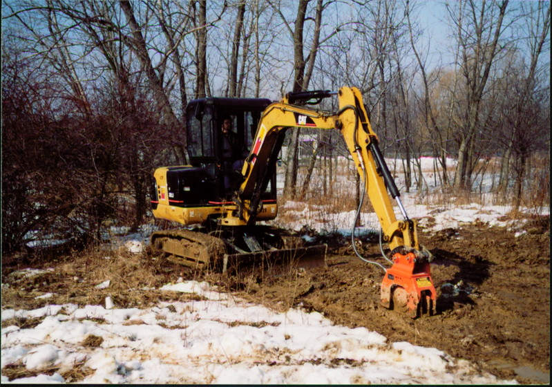 NPK C2D compactor on Cat mini excavator (10).JPG