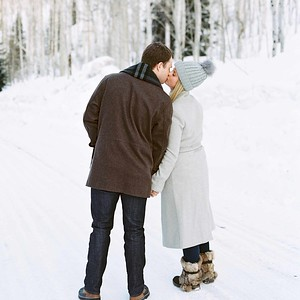 Couples in snow