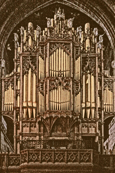 Chester Cathedral - the organ, built in 1876