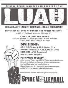 2003 Spikevolleyball Chicago LUAU