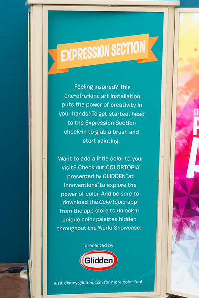 Expression Station - Epcot International Festival of the Arts 2017