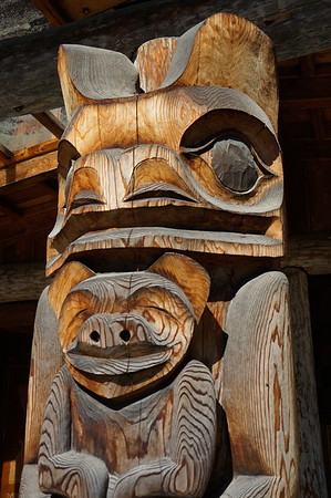 Some totem poles,  British Columbia  Canada